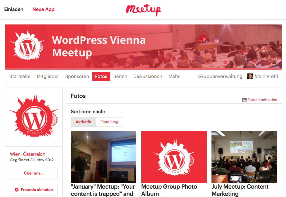 WordPress Vienna MeetUp Website